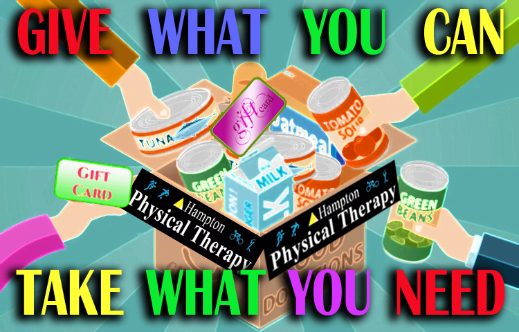 Give Food - take what you need at Hampton Physical Therapy in NH